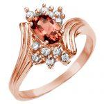 0.80 ctw Pink Tourmaline & Diamond Ring 14K Rose