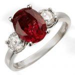 3.25 ctw Rubellite & Diamond Ring 14K White