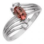 0.65 ctw Pink Tourmaline & Diamond Ring 10K White