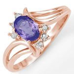 0.70 ctw Tanzanite & Diamond Ring 14K Rose