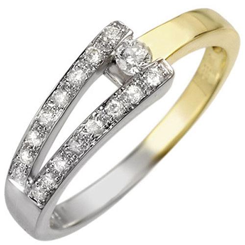 0.30 ctw Certified VS/SI Diamond Ring 10K 2-Tone