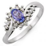 0.55 ctw Tanzanite & Diamond Ring 10K White