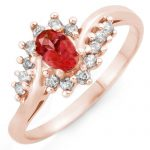 0.50 ctw Pink Tourmaline & Diamond Ring 14K Rose