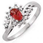 0.50 ctw Pink Tourmaline & Diamond Ring 10K White