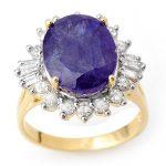 8.03 ctw Tanzanite & Diamond Ring 14K Yellow