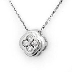 0.25 ctw Certified VS/SI Diamond Necklace 14K White