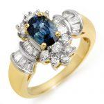2.25 ctw Blue Sapphire & Diamond Ring 14K Yellow