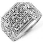 0.50 ctw Certified VS/SI Diamond Men's Ring 10K White