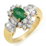 1.75 ctw Emerald & Diamond Ring 14K Yellow