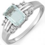 1.41 ctw Aquamarine & Diamond Ring 10K White