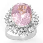 15.75 ctw Kunzite & Diamond Ring 18K White