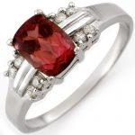 1.41 ctw Pink Tourmaline & Diamond Ring 10K White