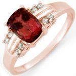 1.41 ctw Pink Tourmaline & Diamond Ring 18K Rose