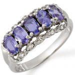1.80 ctw Tanzanite & Diamond Ring 18K White