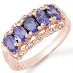 1.80 ctw Tanzanite & Diamond Ring 14K Rose