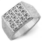 0.50 ctw Certified VS/SI Diamond Men's Ring 10K White