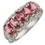 1.15 ctw Pink Tourmaline & Diamond Ring 10K White