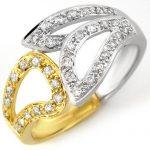 0.33 ctw Certified VS/SI Diamond Ring 10K 2-Tone