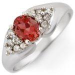 0.90 ctw Pink Tourmaline & Diamond Ring 14K White