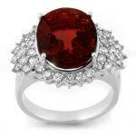 9.18 ctw Pink Tourmaline & Diamond Ring 18K White