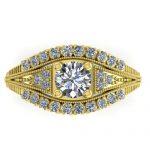 1.50 ctw Solitaire VS/SI Diamond Ring 14K Art Deco