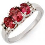 0.92 ctw Pink Tourmaline & Diamond Ring 14K White