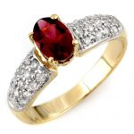 1.50 ctw Pink Tourmaline & Diamond Ring 10K Yellow