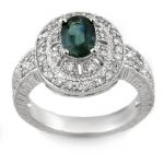 2.08 ctw Blue Sapphire & Diamond Ring 14K White