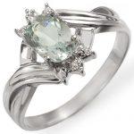 0.79 ctw Aquamarine & Diamond Ring 10K White