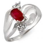 0.79 ctw Ruby & Diamond Ring 10K White