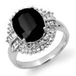 6.29 ctw Blue Sapphire & Diamond Ring 18K White