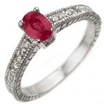 1.63 ctw Ruby & Diamond Ring 14K White