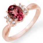 1.06 ctw Pink Tourmaline & Diamond Ring 14K Rose