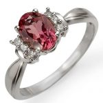 1.06 ctw Pink Tourmaline & Diamond Ring 10K White