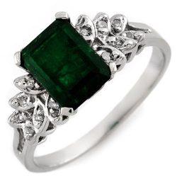 2.12 ctw Emerald & Diamond Ring 10K White