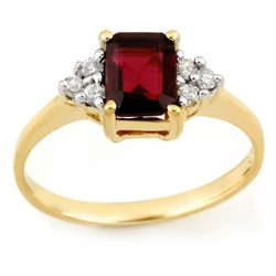 1.12 ctw Garnet & Diamond Ring 10K Yellow