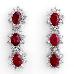 5.63 ctw Ruby & Diamond Earrings 14K White