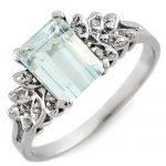 2.12 ctw Aquamarine & Diamond Ring 10K White