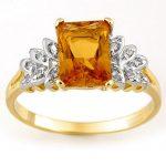 2.12 ctw Citrine & Diamond Ring 10K Yellow