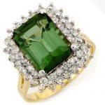 4.75 ctw Green Tourmaline & Diamond Ring 14K Yellow