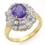 2.70 ctw Tanzanite & Diamond Ring 14K Yellow