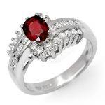 1.60 ctw Ruby & Diamond Ring 18K White