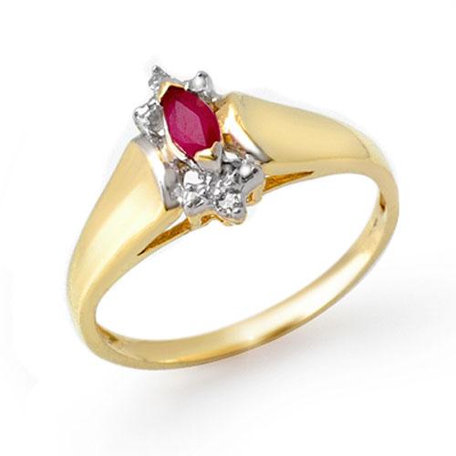 0.22 ctw Ruby & Diamond Ring 10K Yellow