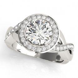 1.75 ctw Certified VS/SI Diamond Halo Ring 14K White
