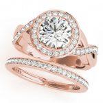 2.09 ctw Certified VS/SI Diamond 2pc Wedding Set Halo 14K