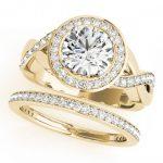 1.84 ctw Certified VS/SI Diamond 2pc Wedding Set Halo 14K