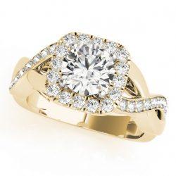 2 ctw Certified VS/SI Diamond Halo Ring 14K Yellow
