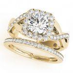 2.35 ctw Certified VS/SI Diamond 2pc Wedding Set Halo 14K