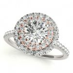 1 ctw Certified VS/SI Diamond Solitaire Halo Ring 18K