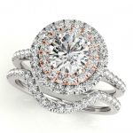 1.70 ctw Certified VS/SI Diamond 2pc Set Solitaire Halo 14K